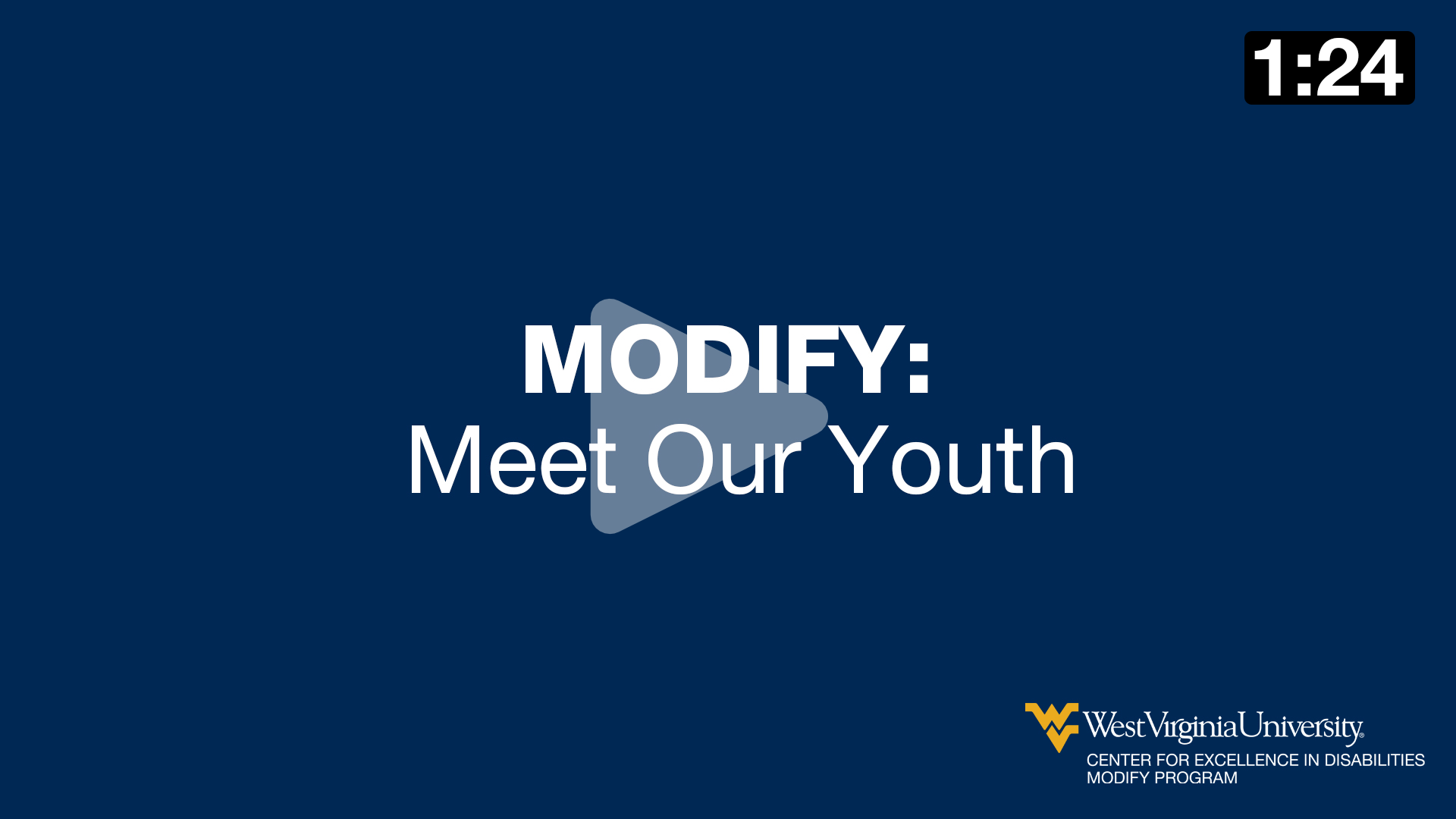 MODIFY: Meet our Youth